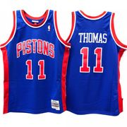 Maillot NBA Isaih Thomas Detroit Pistons 1988-89 Mitchell & ness Hardwood Classics Bleu taille - XL