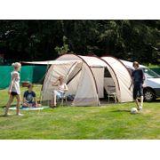 Camper Tramp - Auvent minibus - 2 personnes - 370 x 320 cm - Beige/Bordeaux