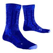 Chaussettes X-Bionic Trek X Merino bleu noir blanc