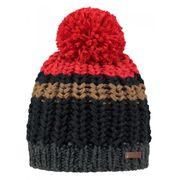 BARTS-Bonnet pompon en maille rouge marine Modèle Homme Barts