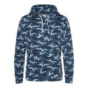 Sweat-shirt à capuche camo homme - JH014 - bleu camouflage