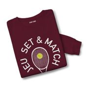 Sweatshirt mixte Jeu Set & Match