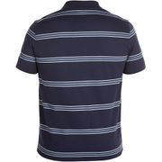 2016-2017 England Rugby Cotton Stripe Polo Maillot (Graphite)