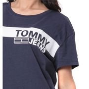 T-shirt marine femme Tommy Jeans Corporate