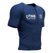 T-shirt Compressport Trail Postural manches courtes Top-Trail du Mont-Blanc 2019 bleu