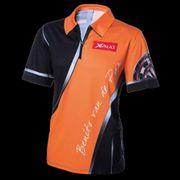 Jeux de fléchettes sublime XQmax Darts T-shirt réplique de match BvdP Orange Taille M QD9200230