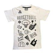 T-Shirt Peak Fantasy Basket pour enfant Blanc Taille - 6 ans