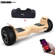 Mega Motion Hoverboard bluetooth 8.5pouces tout terrain, gyropode or avec Application + Sac de transport de haute qualité