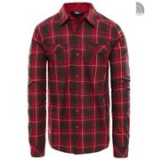 The North Face M L/S Lodge Shirt Rumba Red Plaid S