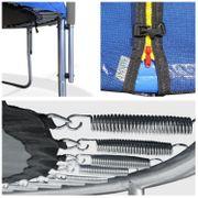 Pack Premium Trampoline réversible 180cm bleu et vert CAIRNS avec filet de protection, échelle, bâche et kit d'ancrage