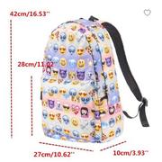 Sac à Dos Emoji Multicolore Mode Epaule Cartable Voyage Casual Ecole