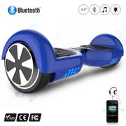 Hoverboard 6.5 Pouces avec Bluetooth, Cool&Fun Gyropode Overboard Skateboard Smart Scooter, Bleu