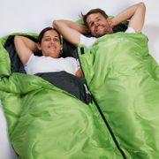 Skye - Sac de Couchage Rectangulaire - 220x75 cm - Jumelable - Vert -Zip Gauche