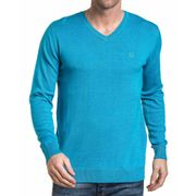 Pullover homme basic turquoise