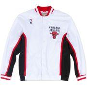 Veste Mitchell & Ness Chicago Bulls Authentic Warm Up 92-93 Hardwood Classics Blanc