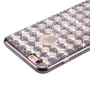 Coque de diamant incrusté-Pour iPhone 6 & 6 s Agate & Diamant incrusté TPU Etui de protection arrière de protection (Noir)