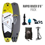 Stand Up Paddle SUP gonflable AquaMarina RAPID RIVER 9'6