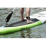 Leash noir de Paddle torsadé : longueur: 2.45m étiré - 70cm non étiré
