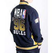 Veste Mitchell & Ness Chicago Team History Bulls Authentic Warm Up Final 96 Hardwood Classics Noir Vert Kaki