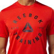 T-shirt Reebok GS Training Speedwick manche courte rouge noir