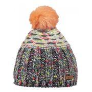 b01111cf53 BARTS-Bonnet à pompon maille chiné gris corail Enfant Fille 3 au 10 ans  Barts