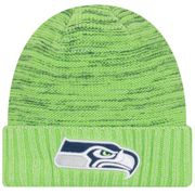 Bonnet NFL sans pompon Seattle Seahawks On Field 2017 New Era Knit Rush Vert