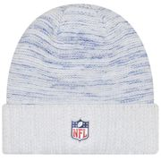Bonnet NFL sans pompon New York Giants On Field 2017 New Era Knit Rush Blanc