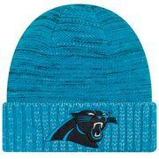 Bonnet NFL sans pompon Carolina Panthers On Field 2017 New Era Knit Rush Bleu
