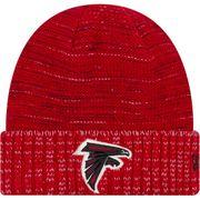 Bonnet NFL sans pompon Atlanta Falcons On Field 2017 New Era Knit Rush Rouge