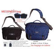 MESSENGER BAG 20L - Sacoche ordinateur portable - sac cabine pour usage professionnel ou loisirs