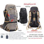 ADVENTURE 65 L - sac à dos plus de 50 L - sac à dos moyenne randonnée