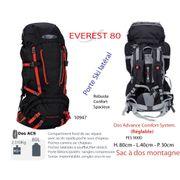 EVEREST 80 - Sac à dos 80 L - grand sac à dos - sac à dos grand trekking - sac à dos grands jours / voyage