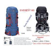 EVEREST 80 - Sac à dos 80 L - grand sac à dos - sac à dos grand trekking- sac à dos grands jours / voyage