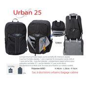 URBAN 25 - Sac à dos 25 L - Bagage cabine 25 L s'adapte sur trolley
