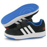 Adidas Neo Hoops 2.0 Bb noir, baskets mode enfant