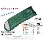 CONDOR 300+ - sac de couchage rectangulaire avec capuche - sac couchage confort
