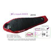 MICROPAK 800D - Sac de couchage + 5°C à - 16°C - sac de couchage 3 saisons - sac de couchage duvet léger