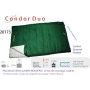 CONDOR DUO-Sac de couchage couverture 2personnes - sac couchage couverture camping