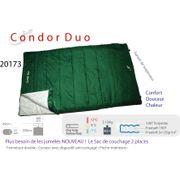 CONDOR DUO - Sac de couchage couverture 2 personnes - sac couchage 2 places