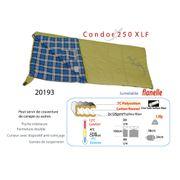 CONDOR 250 XL Flanelle - Sac de couchage camping - Sac de couchage couvertures - sac couchage confort