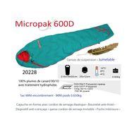 MICROPAK 600D - Sac de couchage -4°C - duvet Plume - sac de couchage randonnée