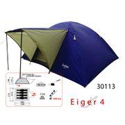 EIGER 4 - tente de camping 4 personnes, tente dôme avec double toit - Freetime