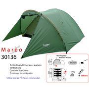 MAREO - tente randonnée 3 à 4 places, tente avec avancée - Freetime
