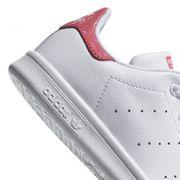 adidas stan smith blanc-rose stan smith cuir cuir/textile 29