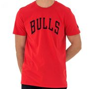 T-Shirt NBA Chicago Bulls New Era Team Apparel Pop Rouge pour Homme taille - L