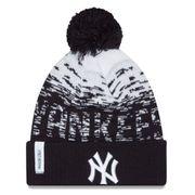 Bonnet MLB New York yankees à pompon New Era Sport Knit noir