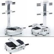 Vibration Plate 1400 - Plateforme vibrante oscillante - Vibrations 3D - 2 Moteurs - Sangles d'entraînement - Pliable