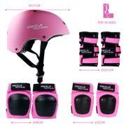 Équipement de protection pour hoverboard, skate, vélo BMX, skateboard; Ensemble protecteur avec réglage optimal et ajustement ferme pour les enfants et les adultes, sac de transport   Size L-Rose