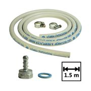 Kit connexion gaz tuyau + adaptateur tétine + raccords pour réchauds et barbecues à gaz