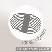 Couverture polaire 240x260 cm Isba Jaune pollen 100% Polyester 320 g/m2 traité non-feu